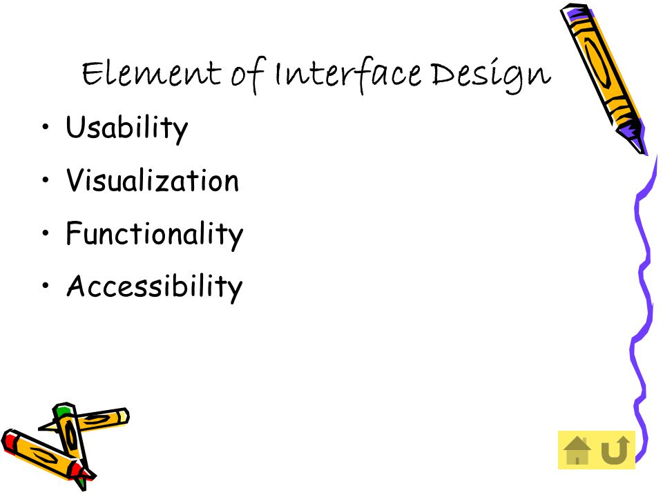 Element of Interface Design