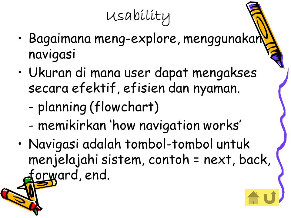 Usability Bagaimana meng-explore, menggunakan navigasi