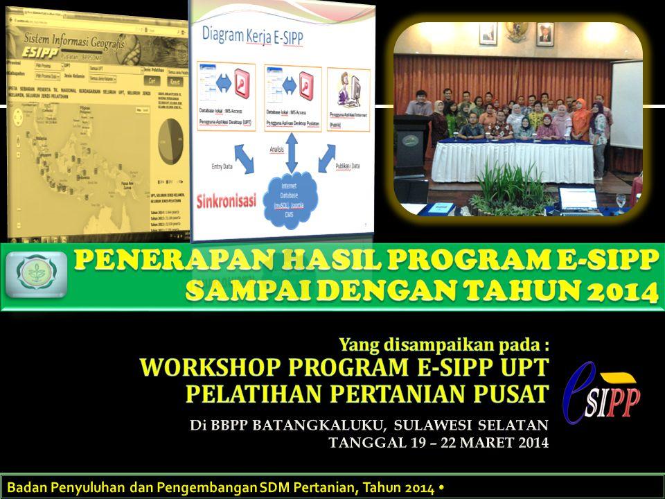 PENERAPAN HASIL PROGRAM E-SIPP SAMPAI DENGAN TAHUN 2014