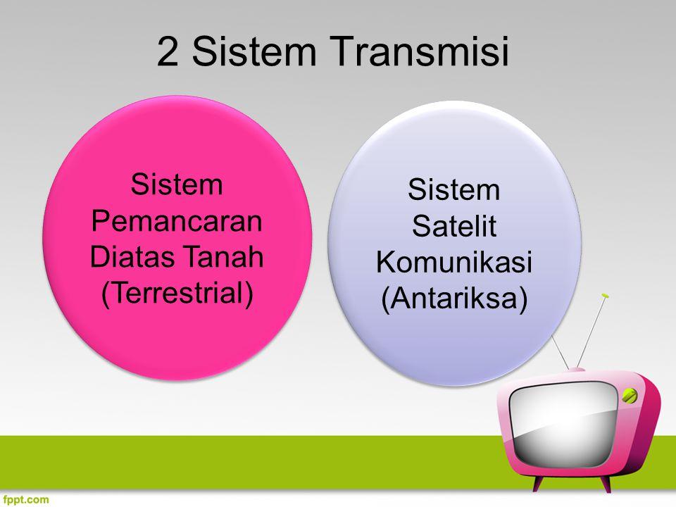 2 Sistem Transmisi Sistem Pemancaran Diatas Tanah (Terrestrial)