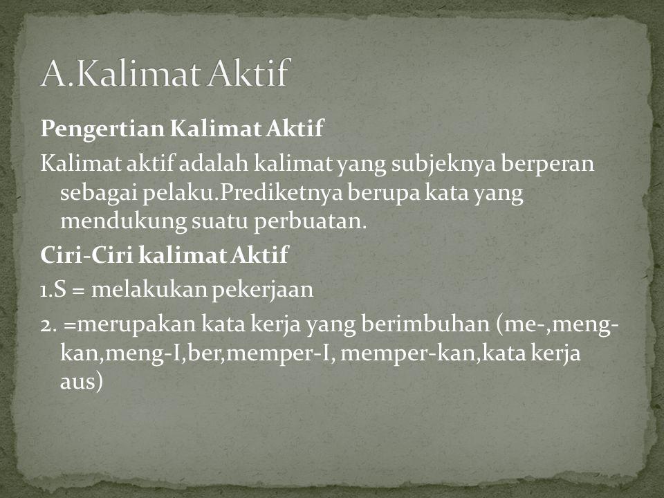 A.Kalimat Aktif