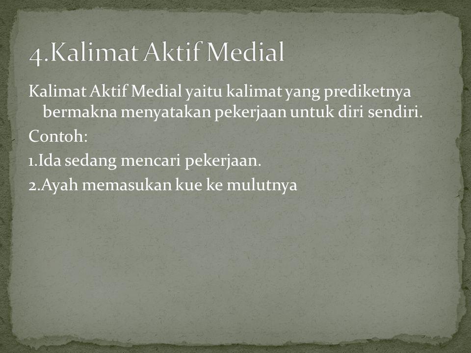4.Kalimat Aktif Medial