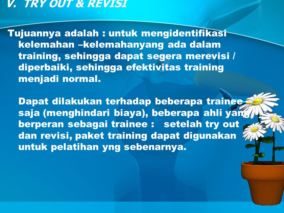 V. TRY OUT & REVISI