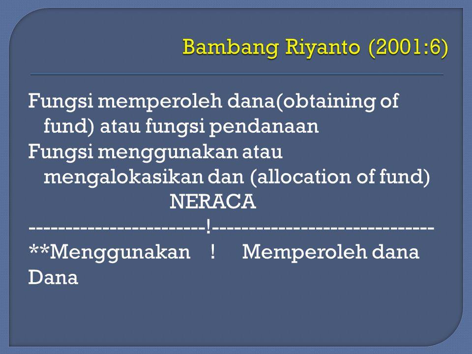 Bambang Riyanto (2001:6)