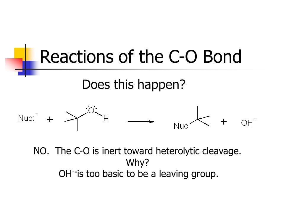 Reactions of the C-O Bond