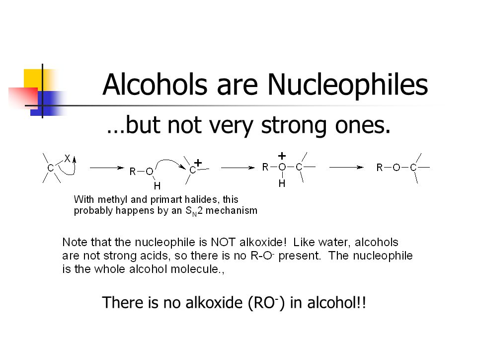 Alcohols are Nucleophiles