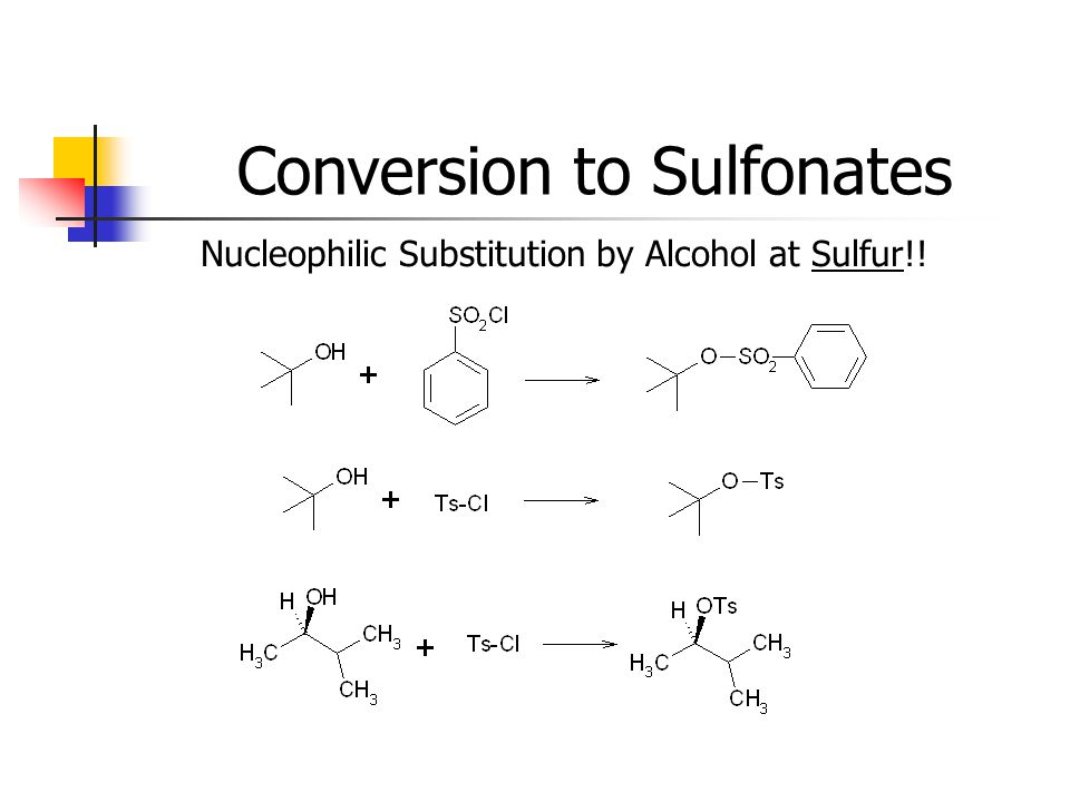 Conversion to Sulfonates