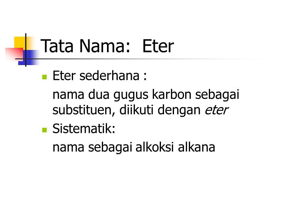 Tata Nama: Eter Eter sederhana :