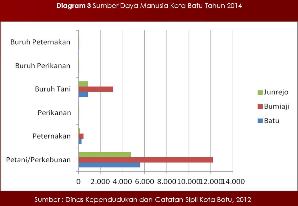 Diagram 3 Sumber Daya Manusia Kota Batu Tahun 2014