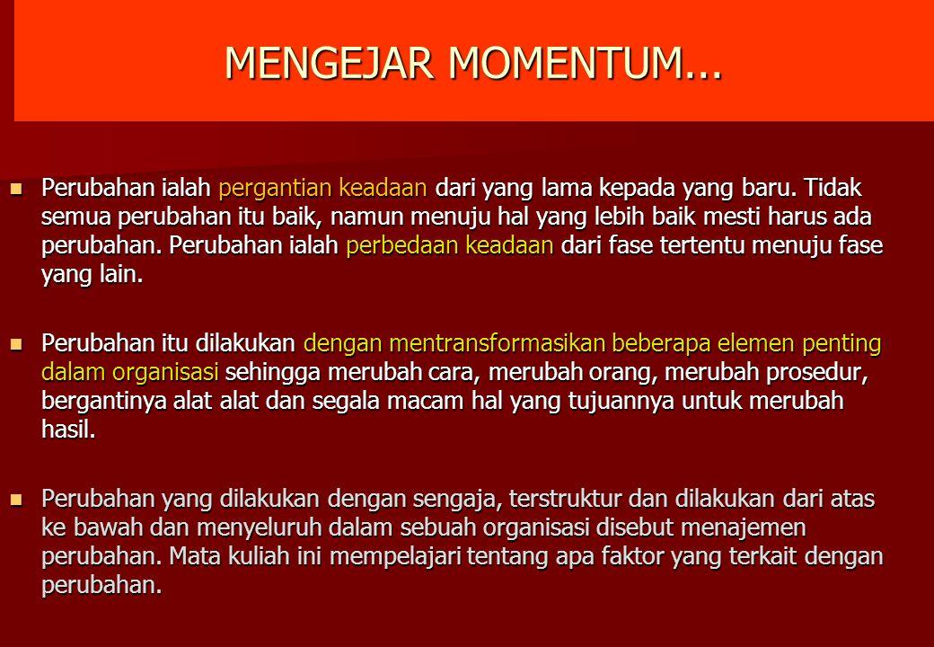 MENGEJAR MOMENTUM...