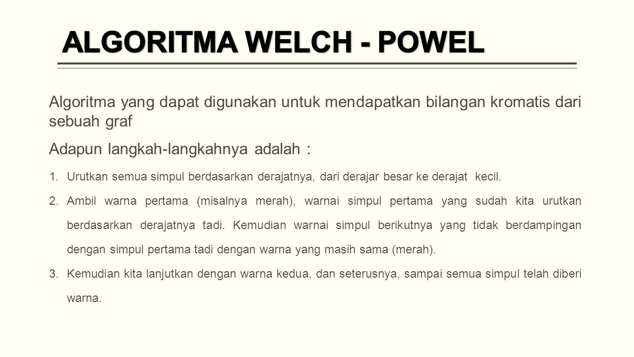 ALGORITMA WELCH - POWEL
