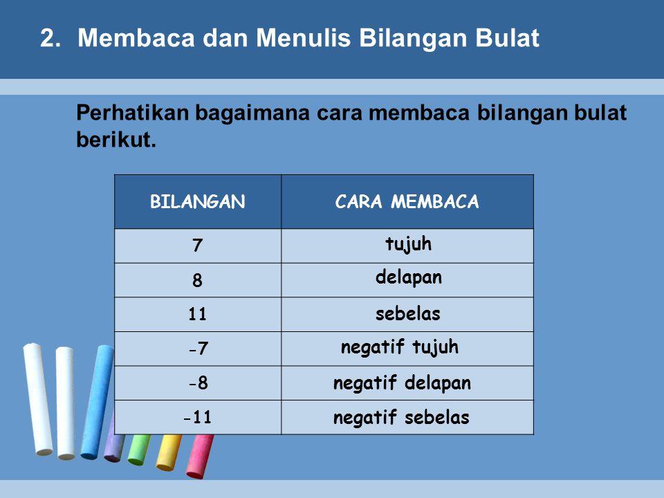 Membaca dan Menulis Bilangan Bulat
