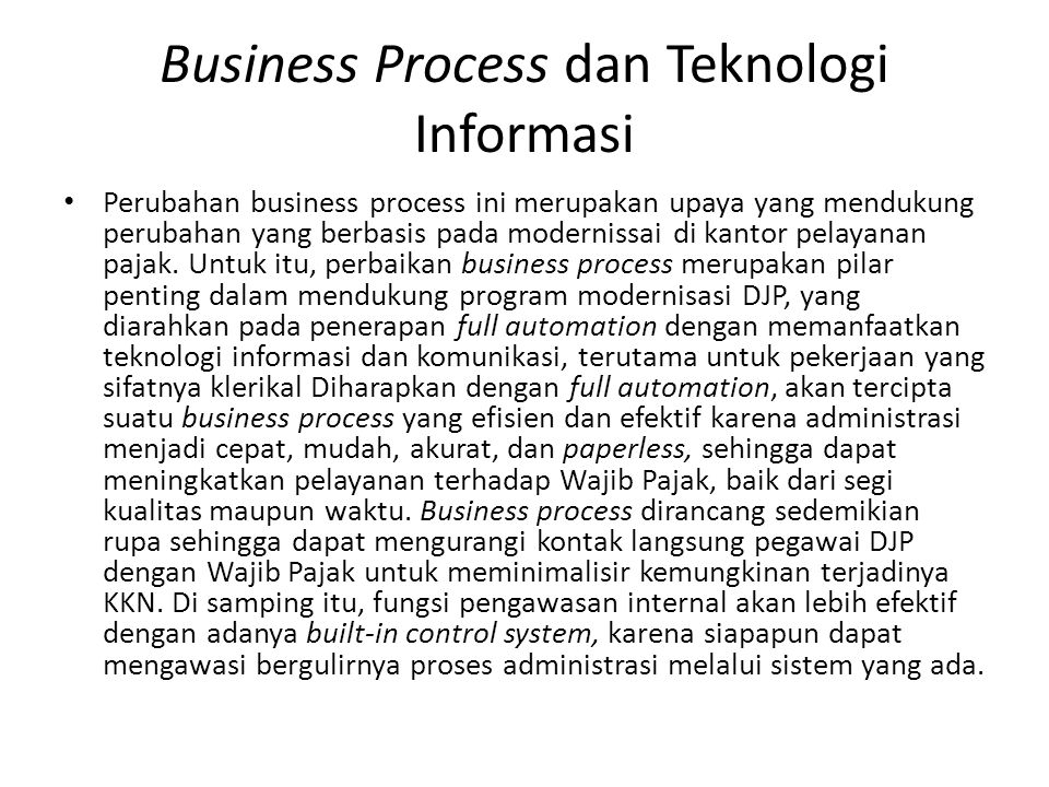 Business Process dan Teknologi Informasi