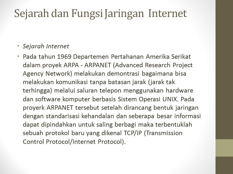 Sejarah dan Fungsi Jaringan Internet