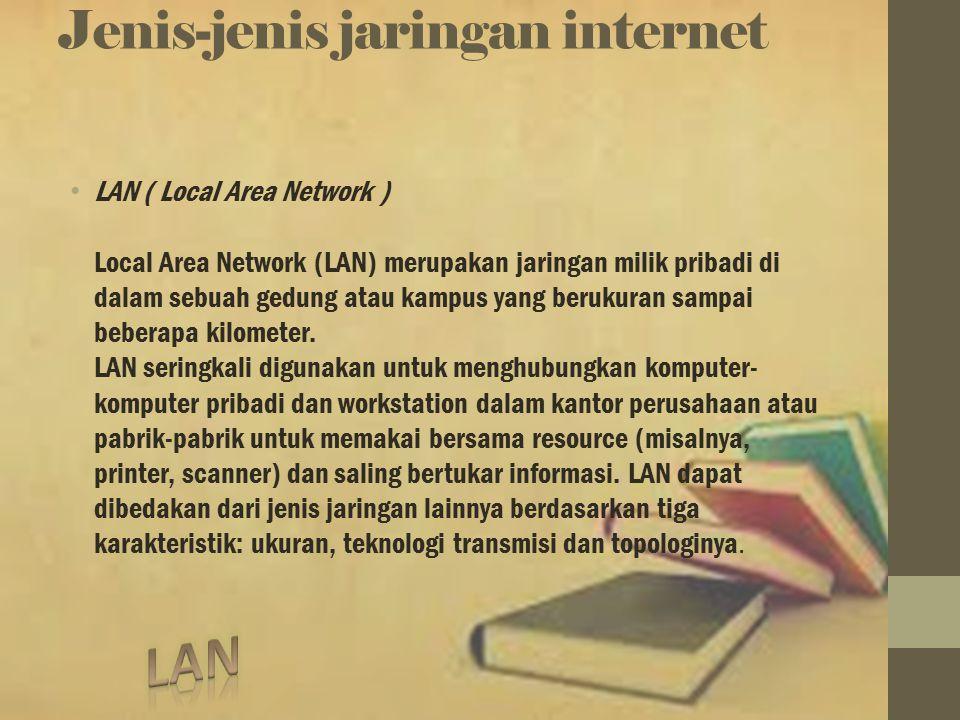 Jenis-jenis jaringan internet