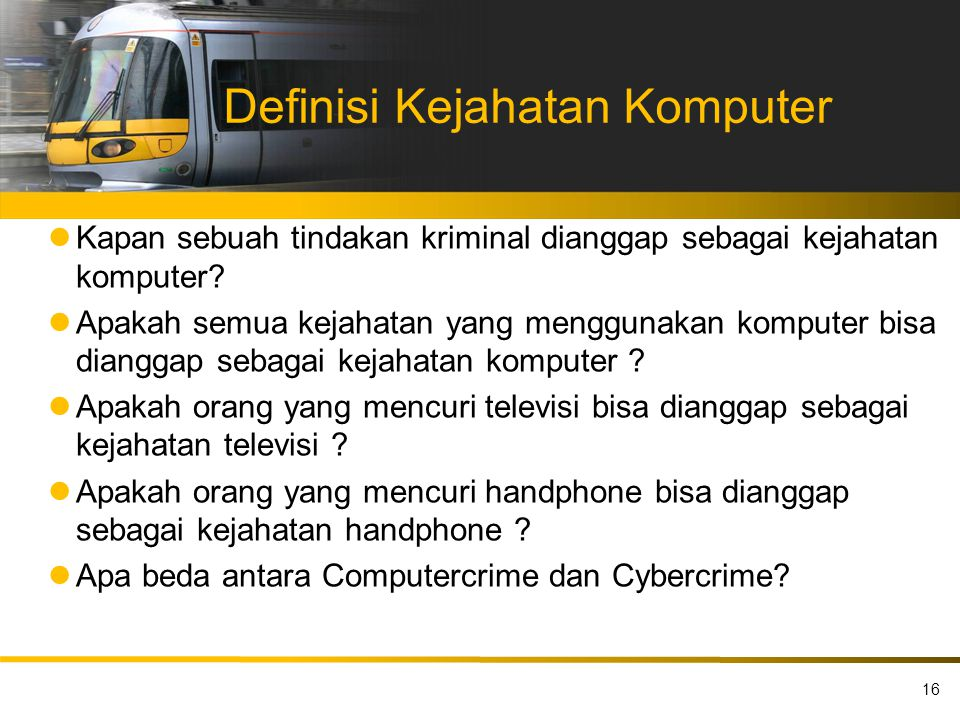 Definisi Kejahatan Komputer