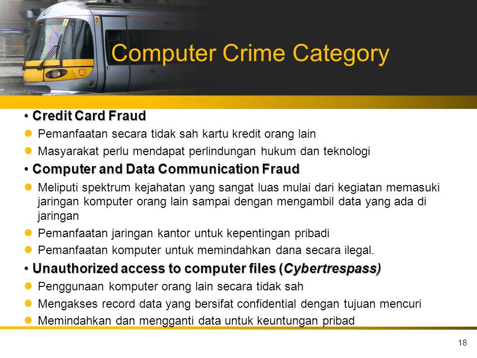 Computer Crime Category