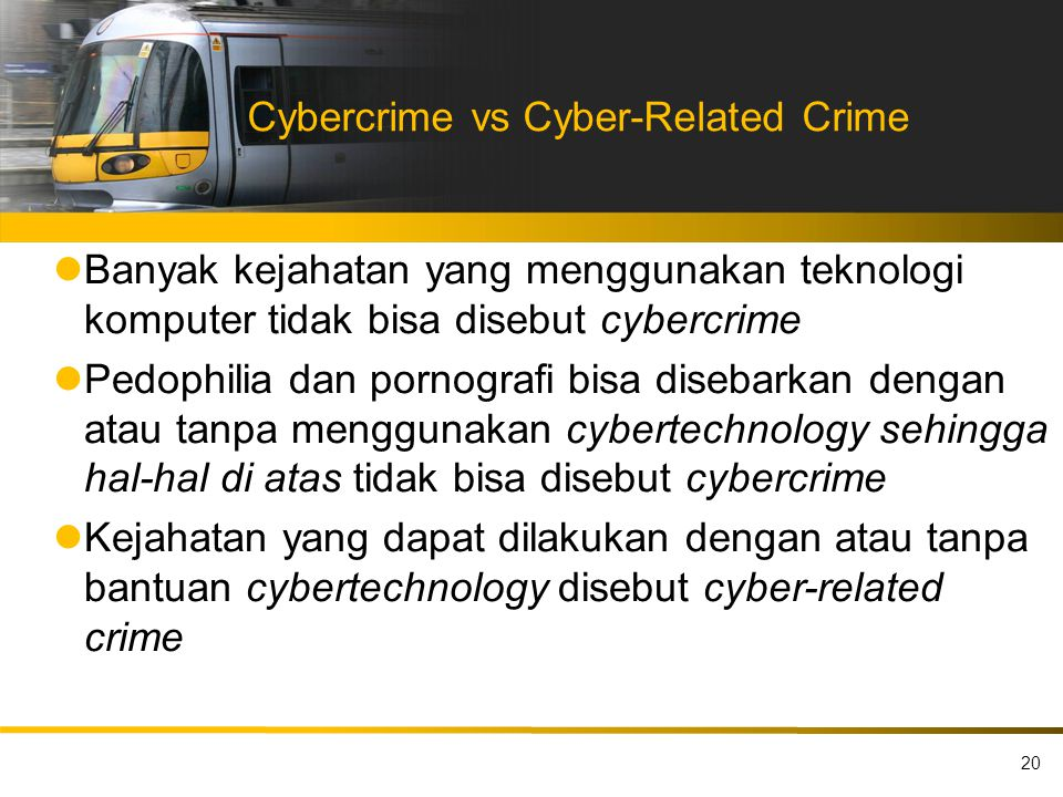 Cybercrime vs Cyber-Related Crime