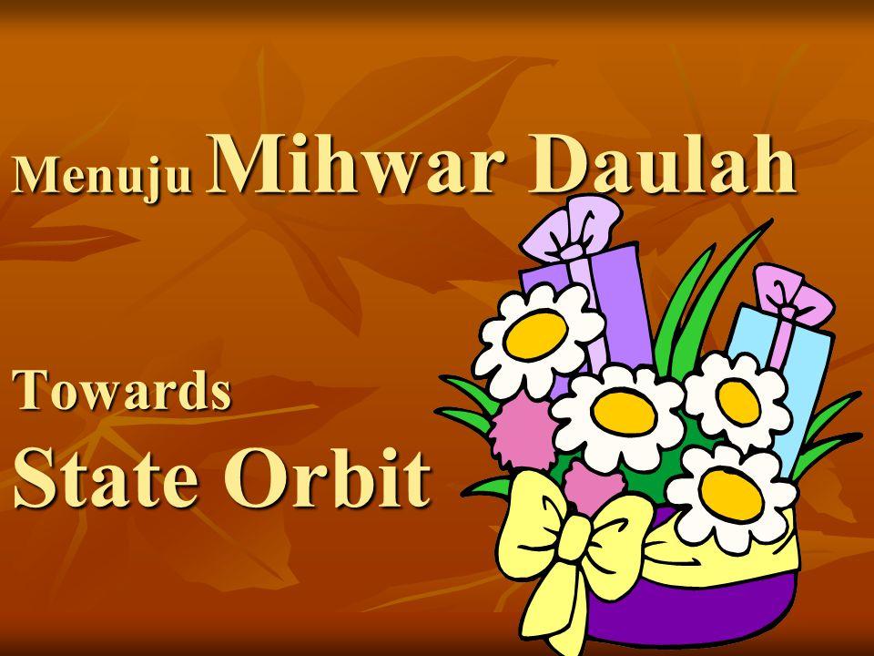 Menuju Mihwar Daulah Towards State Orbit