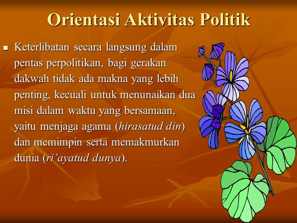 Orientasi Aktivitas Politik