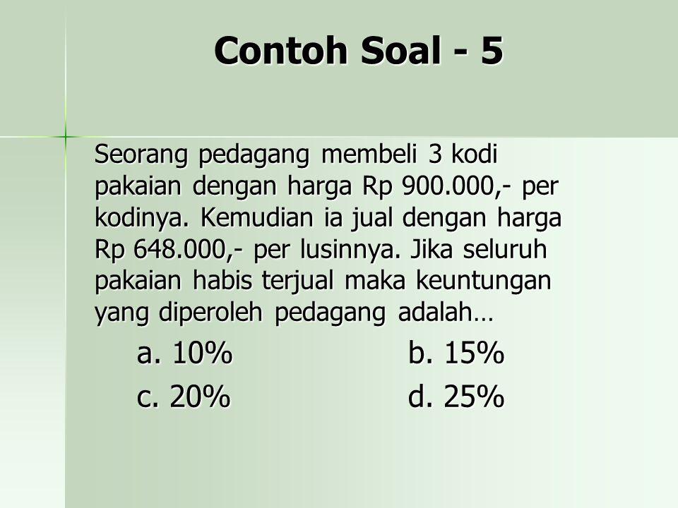 Contoh Soal - 5