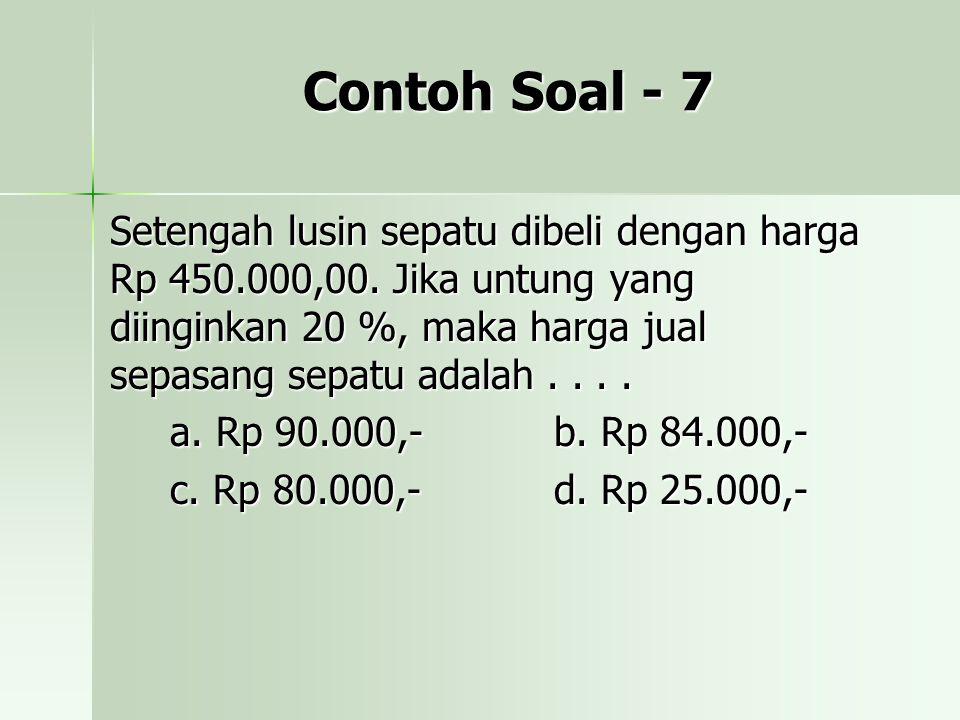 Contoh Soal - 7