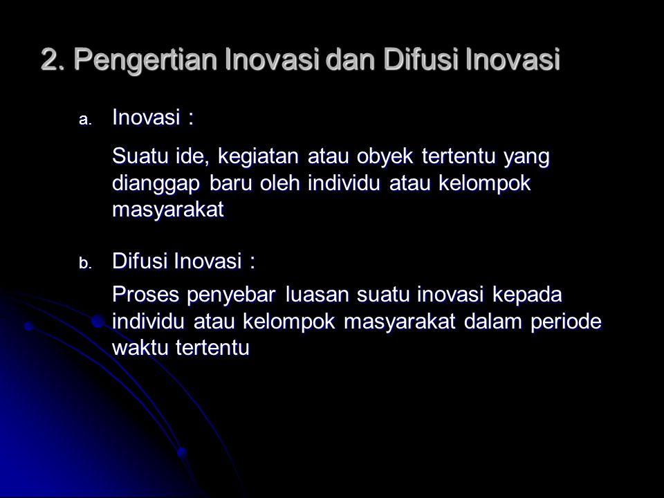 2. Pengertian Inovasi dan Difusi Inovasi