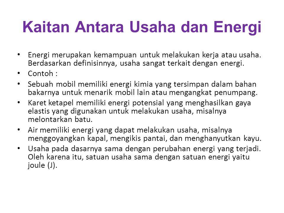 Kaitan Antara Usaha dan Energi