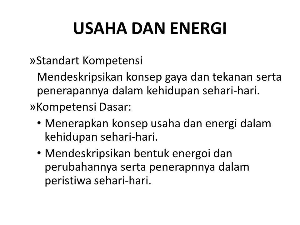 USAHA DAN ENERGI Standart Kompetensi