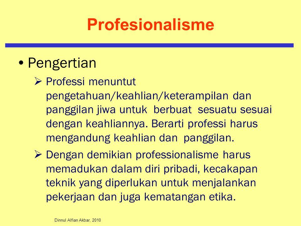 Profesionalisme Pengertian