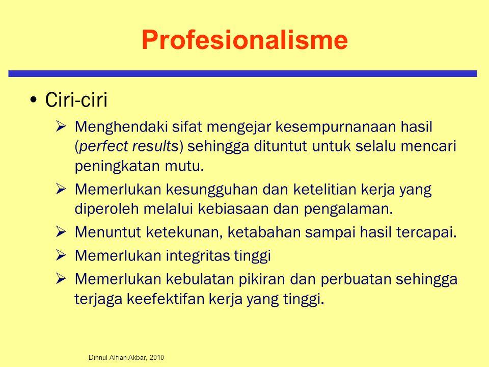 Profesionalisme Ciri-ciri
