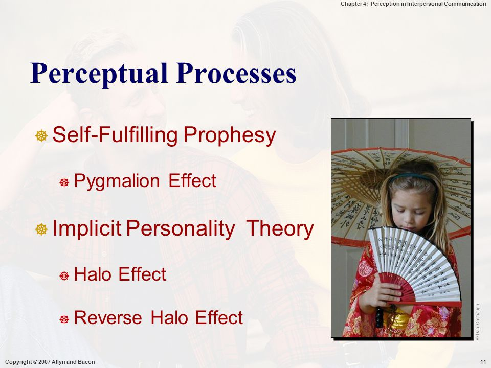 Perceptual Processes Self-Fulfilling Prophesy