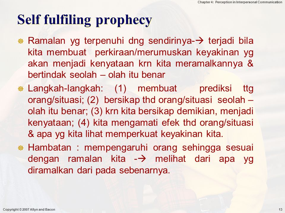 Self fulfiling prophecy