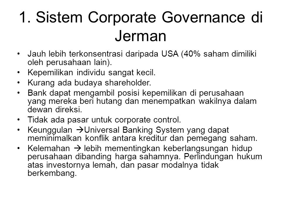 1. Sistem Corporate Governance di Jerman