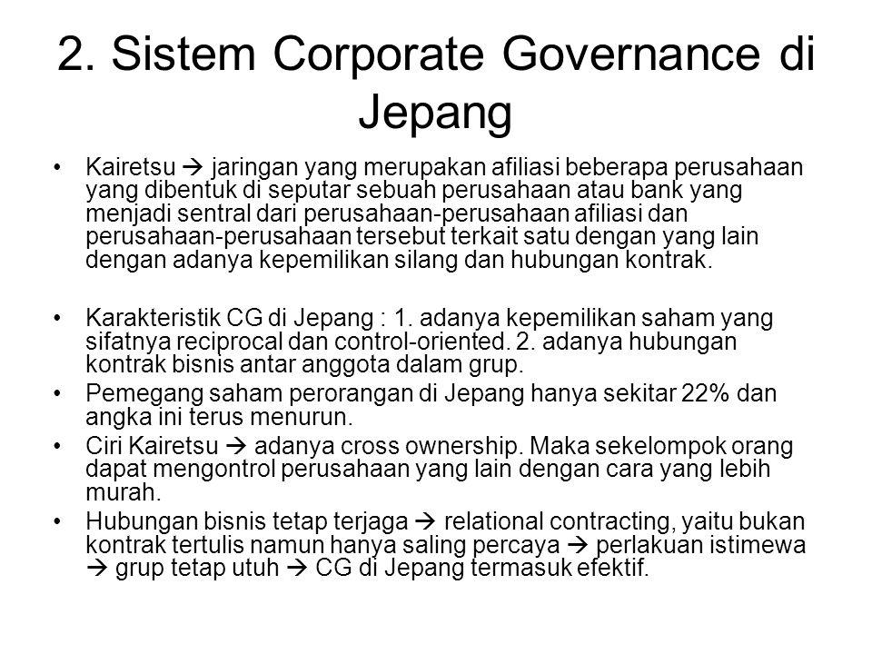 2. Sistem Corporate Governance di Jepang