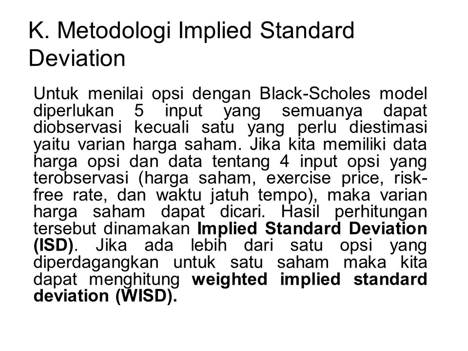 K. Metodologi Implied Standard Deviation