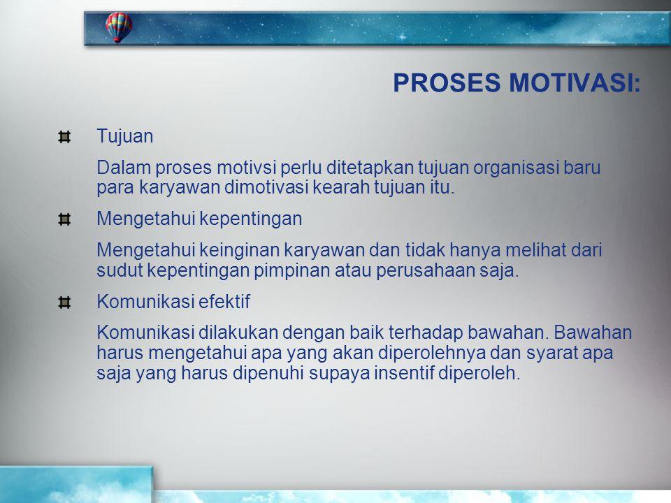 PROSES MOTIVASI: Tujuan