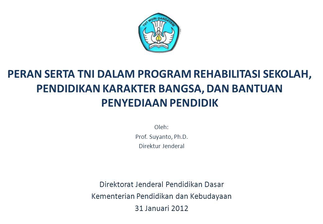 PERAN SERTA TNI DALAM PROGRAM REHABILITASI SEKOLAH, PENDIDIKAN KARAKTER BANGSA, DAN BANTUAN PENYEDIAAN PENDIDIK