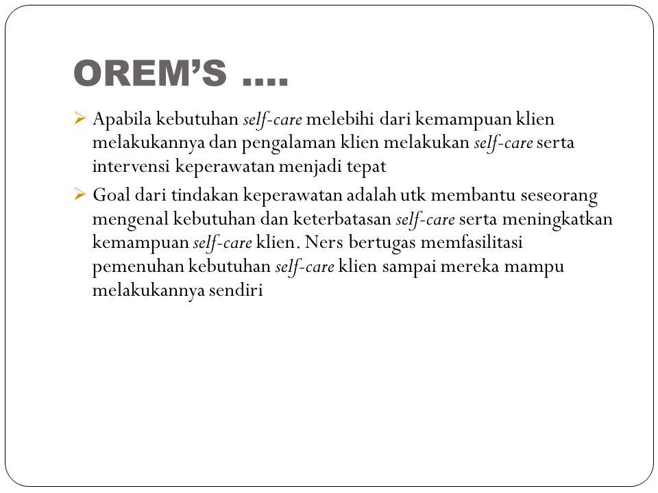 OREM'S ….