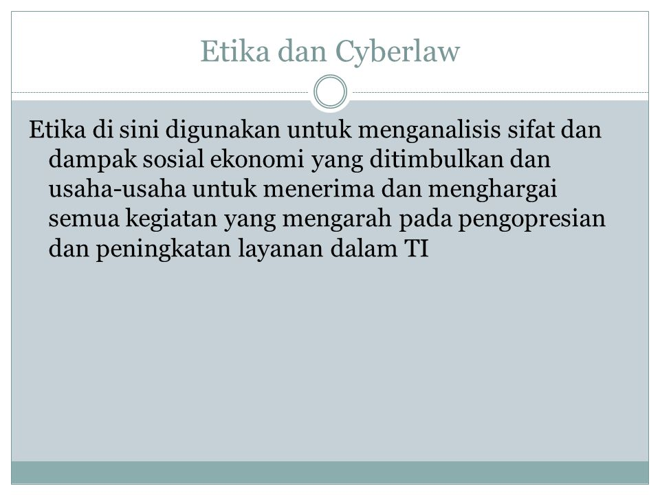 Etika dan Cyberlaw