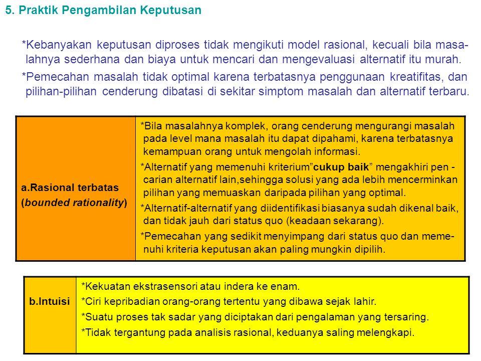 5. Praktik Pengambilan Keputusan