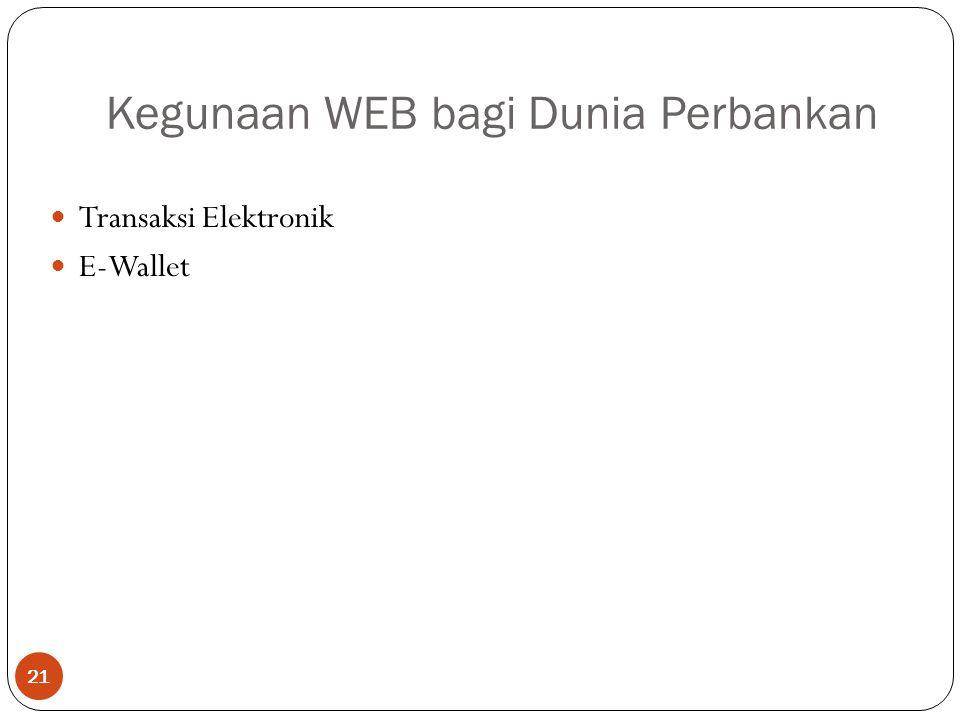 Kegunaan WEB bagi Dunia Perbankan