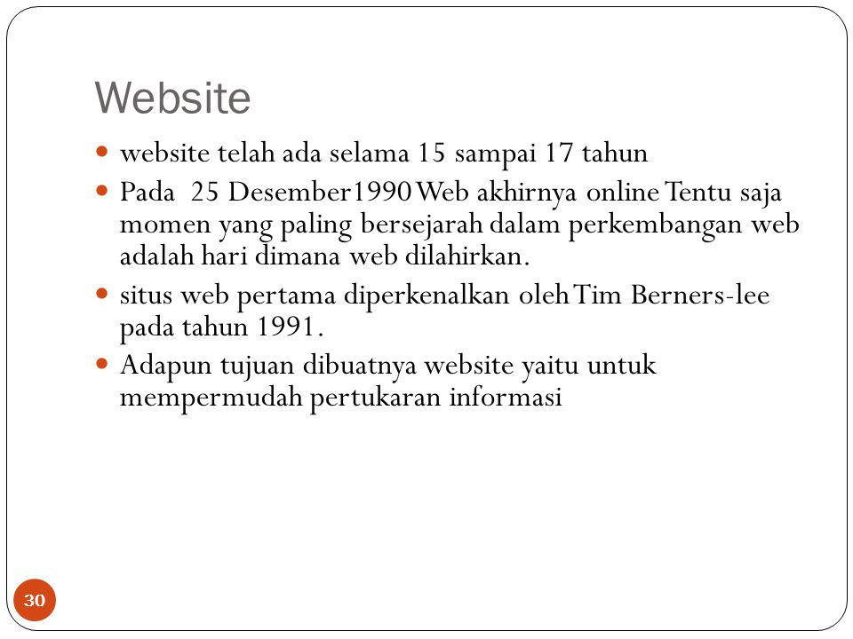 Website website telah ada selama 15 sampai 17 tahun