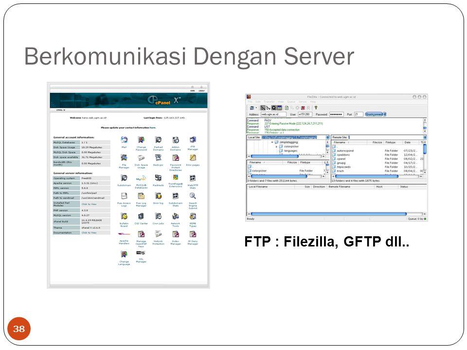Berkomunikasi Dengan Server