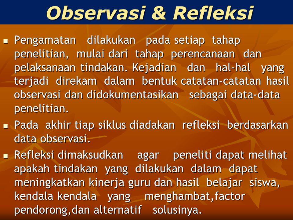 Observasi & Refleksi