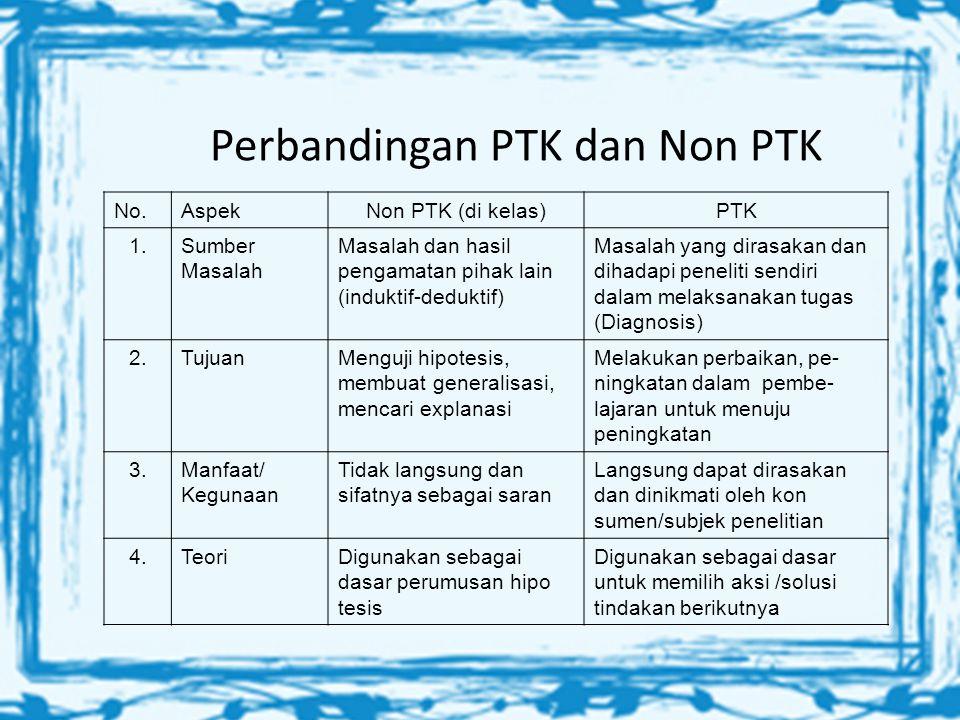 Perbandingan PTK dan Non PTK