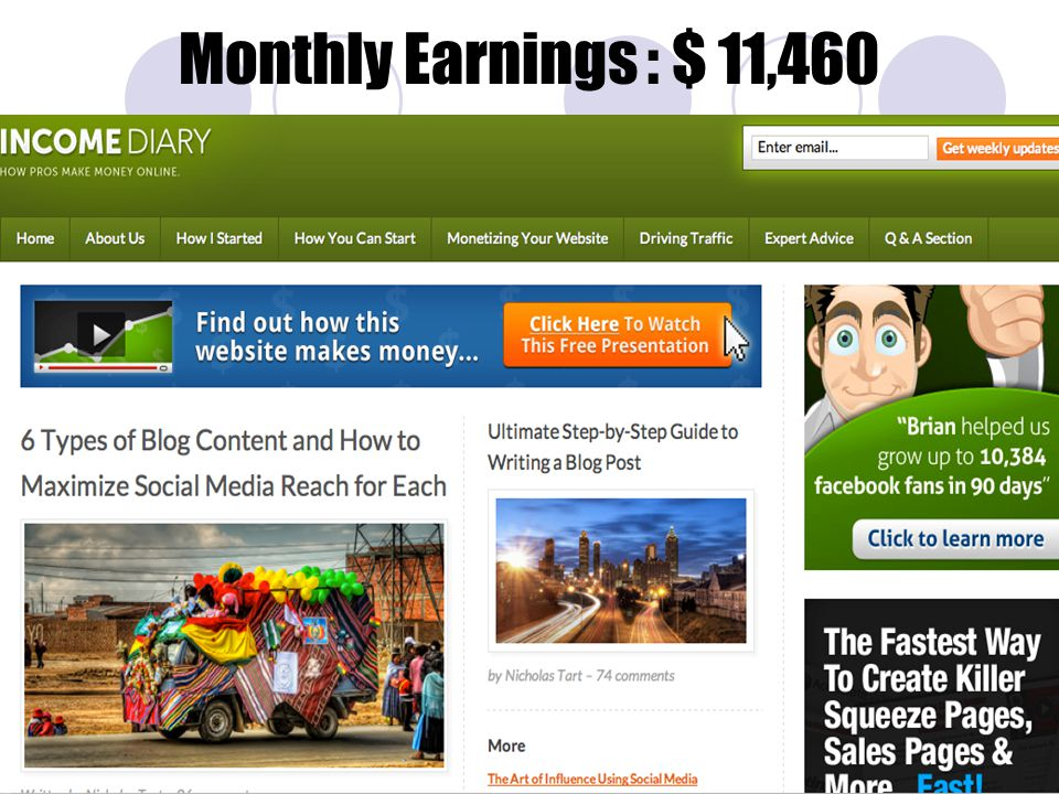 Monthly Earnings : $ 11,460