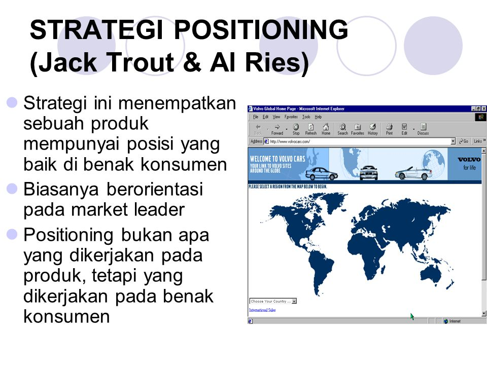 STRATEGI POSITIONING (Jack Trout & Al Ries)