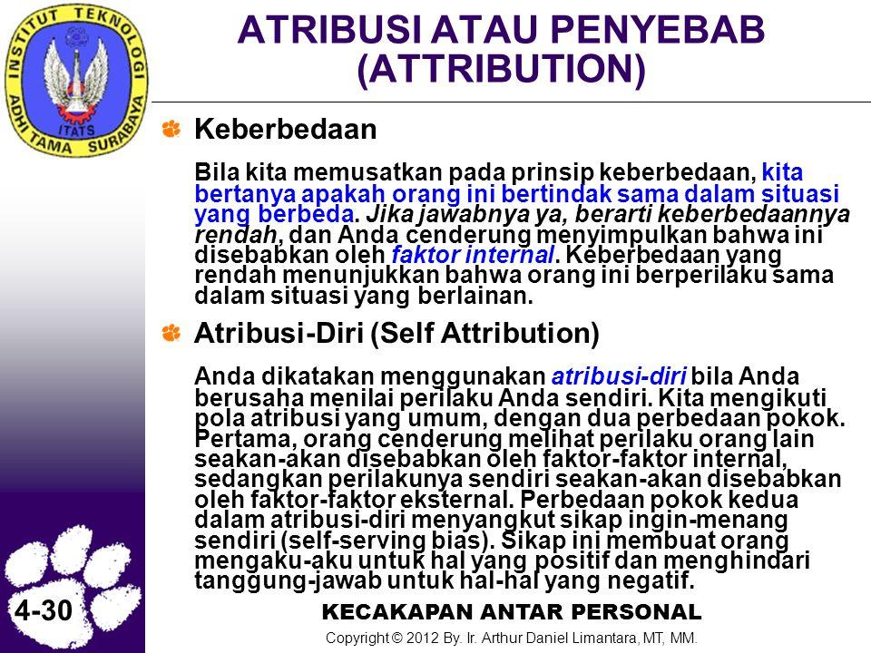 ATRIBUSI ATAU PENYEBAB (ATTRIBUTION)