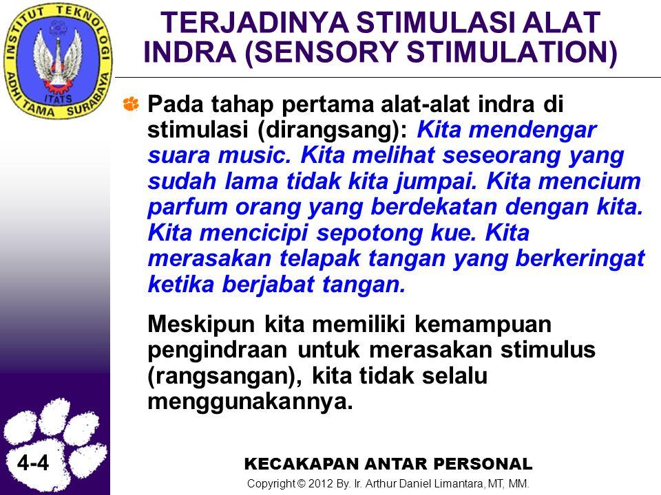 TERJADINYA STIMULASI ALAT INDRA (SENSORY STIMULATION)